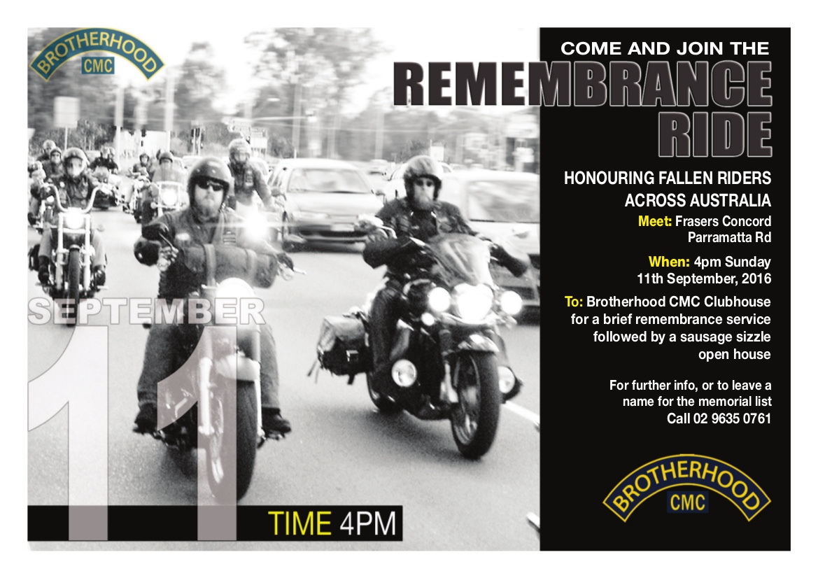 Remembrance Ride 2016