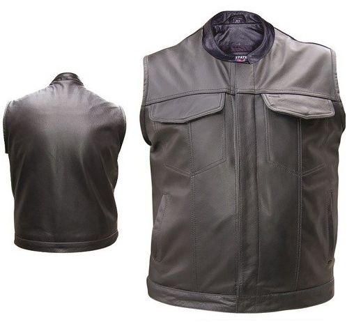 CC Leather Rider-Premium Quality USA Style Vest