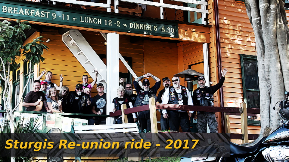 Sturgis re-union ride to Narooma 2017